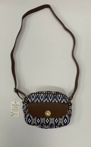 NWT Bella Taylor Avery Mini Messenger Crossbody Bag Purse Blue White FREE SHIP