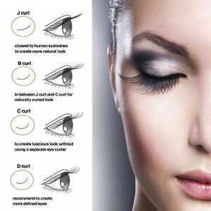 Details about 1Box Synthetic Mink Eyelash Extension Curl JBCD Individual  Semi Permanent Lashes