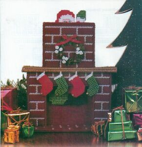 santa in the chimney christmas plastic canvas pattern instructions