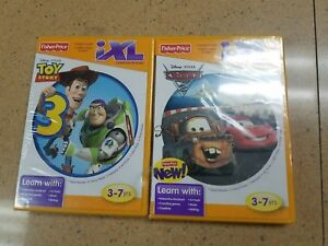 NEW-FISHER-PRICE-iXL-Lot-of-2-Disney-Toy-Story-3-amp-Cars-2-LEARNING-SYSTEM-GAME