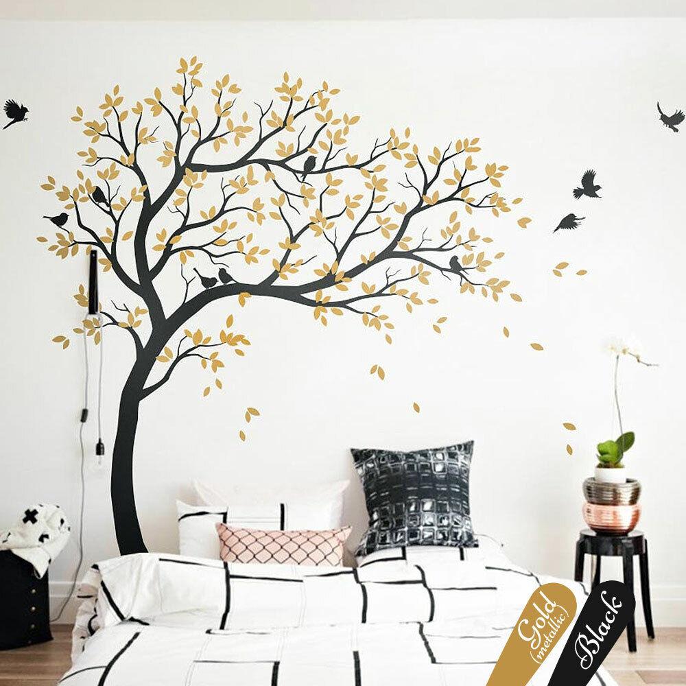 Grand Arbre Mural Autocollants Forêt Chambre Enfant Mur Arbre kw032r