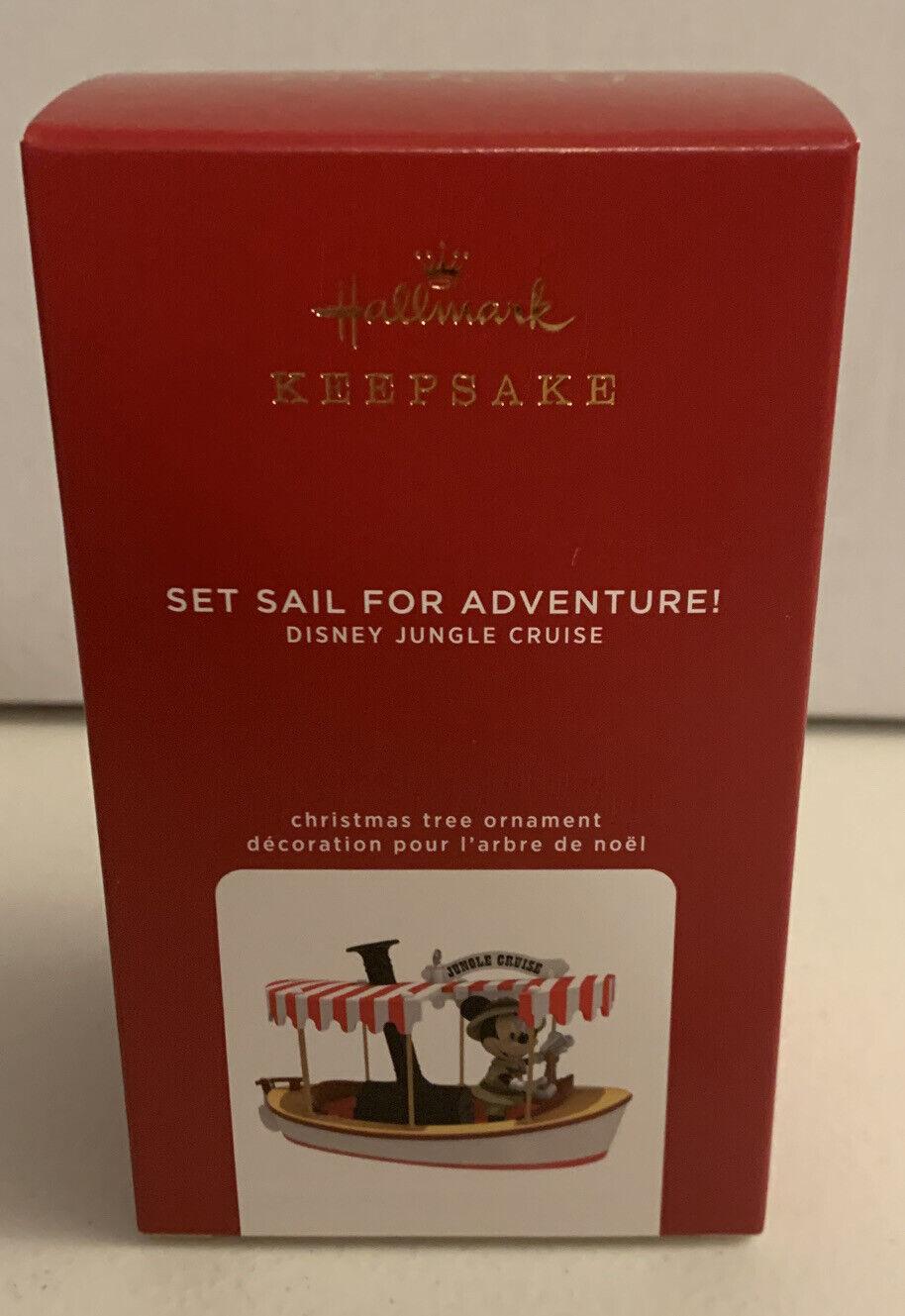 HALLMARK 2020 MICKEY MOUSE SET SAIL FOR ADVENTURE JUNGLE CRUISE  ORNAMENT