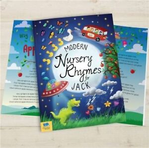 Image Is Loading Personalised Nursery Rhymes Childrens Book Modern Hardback Child