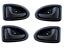 4x TÜRGRIFF INNEN GRIFF LINKS RECHTS RENAULT CLIO II 98 SCENIC I 99-03 SCHWARZ