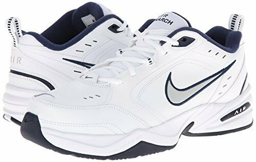 Comfortable and good-looking NIKE AIR MONARCH WIDE 4E SILVER/NAVY BLUE MEN ALL SIZES, Ships in 24 hours