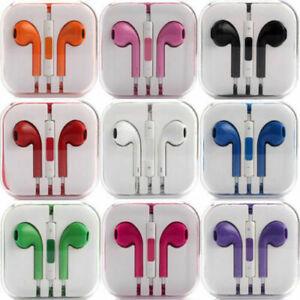 New Headphones Earphones With Remote & Mic For Apple iPhone 6S 6 5 5S 4S
