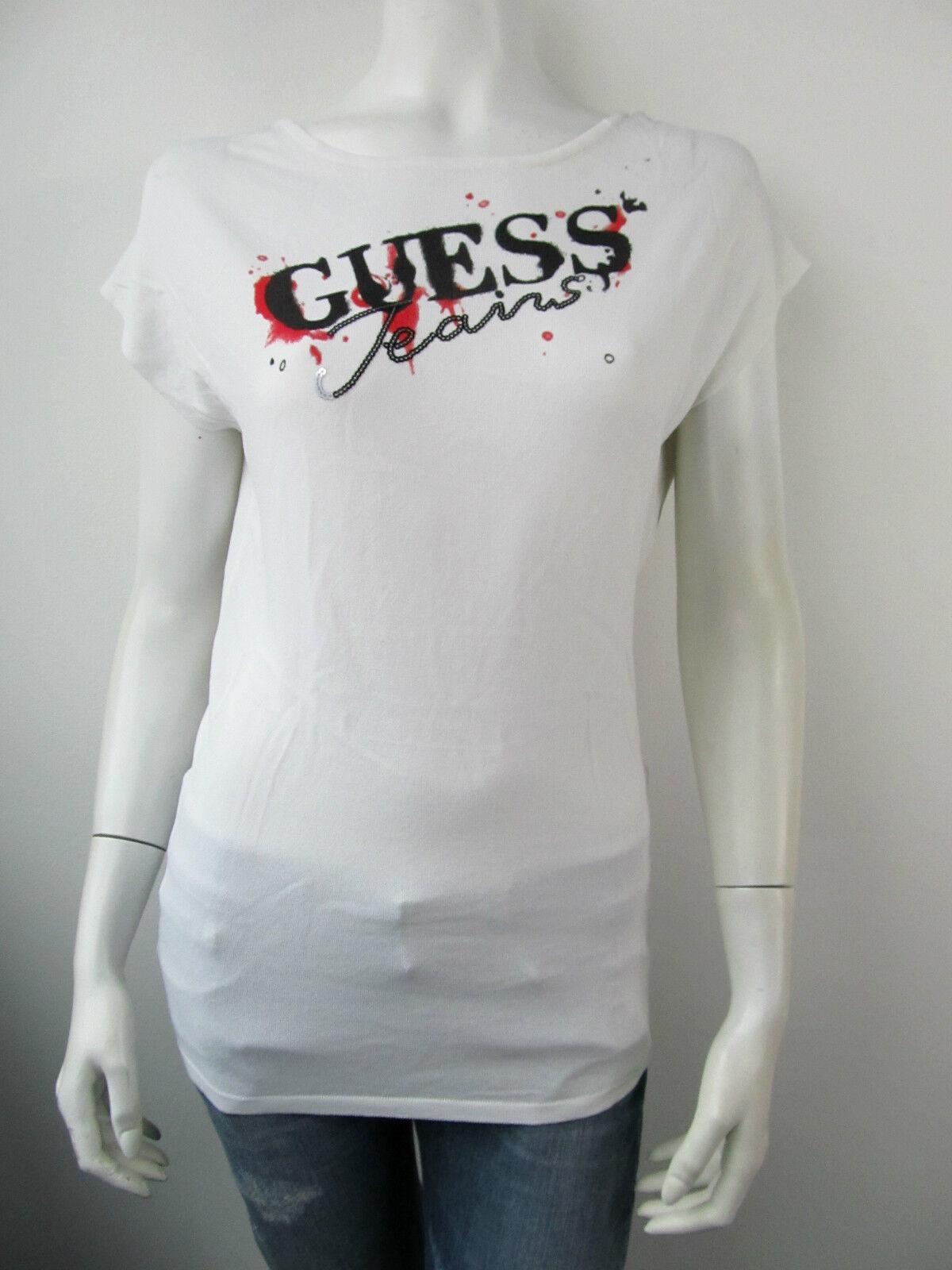 Guess T-Shirt Tee Jersey Top Neu W11R08 Weiss M-XL