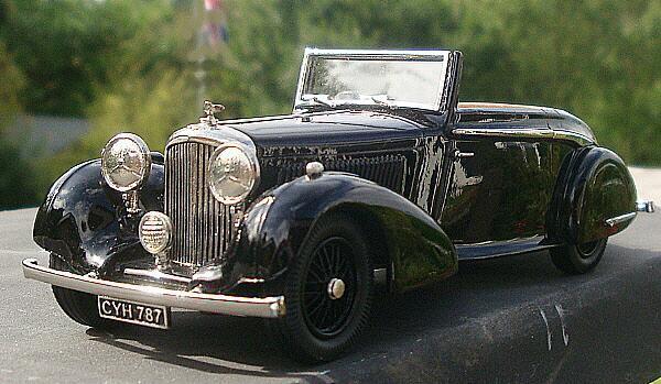 Modèles de Lansdowne 1936 BENTLEY 4 1 4 litre caché Drop Head noir coupé.