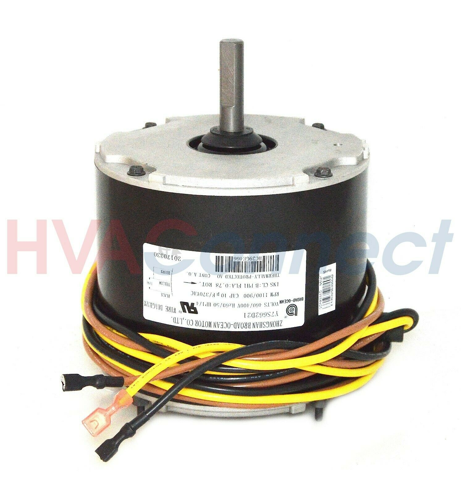 Carrier GE HC39GE466 Genteq Replacement Condenser Fan Motor 1//4 HP 460//400 Volt