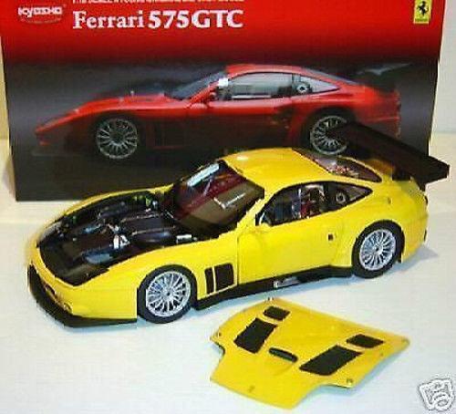 1 18 Kyosho-Ferrari 575 GTC 2004 Jaune jaune-RARE
