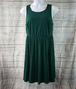 ModCloth-vestido-para-mujer-talla-1X-solido-verde-sin-mangas-elastico-en-la-cintura