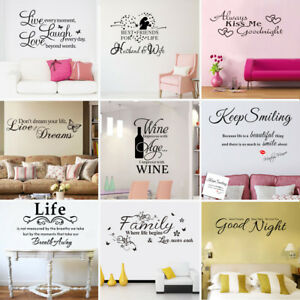 Removable-Quote-Art-Decor-Vinyl-Wall-Sticker-Mural-DIY-Home-Room-Decal-Decor