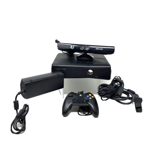Microsoft Xbox 360 Slim 250GB Matte Black Console Kinect ...