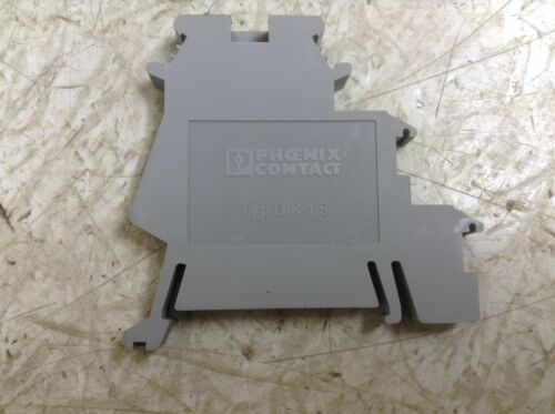 BT Phoenix Contact DIK 1,5 Gray Grey Din Rail Wire Terminal DIK 1.5 Lot of 50