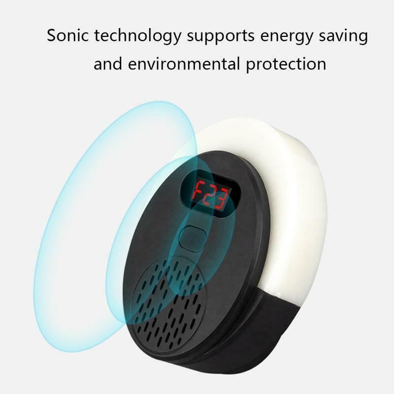 Ultrasonic Pest Rodent Insect Repeller Frequency Change with Scary Lights