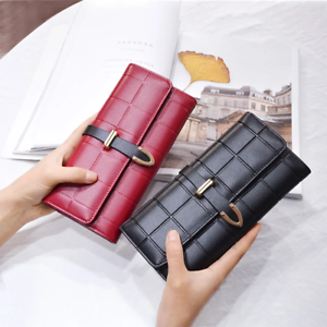 AOEO-Female-Purse-Long-Plaid-8-Holder-Serpentine-Buckle-High-Capacity-Wallet-for