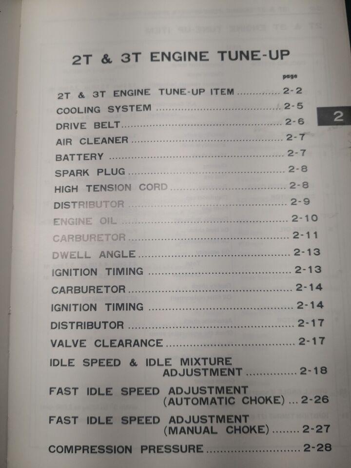 Motorbog, Toyota T serie