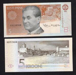 Estonia P-77 UNC /> Pre Euro 10 Krooni 1994