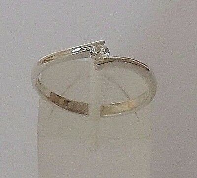 Beliebte Marke 925 Sterling Silver Round White Cubic Zirconia Ring Available Size P1/2, R1/2
