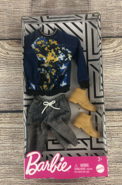 Barbie Ken Doll Fashion Pack Clothes Sweatshirt Shorts Boots  - NEW