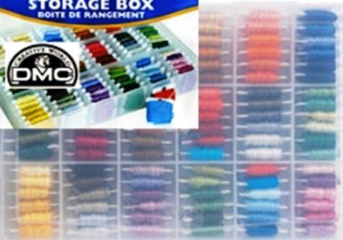 Wahl 2 DMC Organizer Boxen ohne Stickgarn mit 50 Cardbobbins incl.