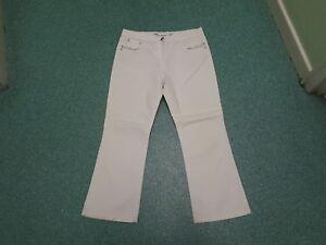 M-amp-CO-Bootcut-Jeans-Petite-Size-14-Leg-27-034-Ladies-White-Jeans