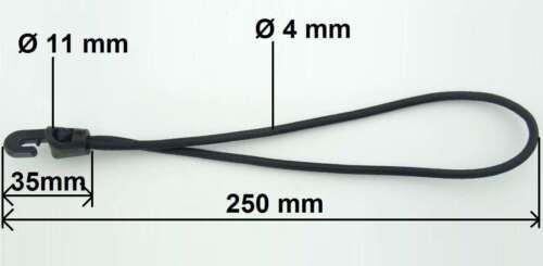 10 Holdon Universal-MINI-Clip /& Spannfixe 25x4 schwarz Klemm-Ösen Spann-Klammern