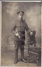 WW1 soldier Cheshire Regiment wears Gor Blimey Khaki Cap Bantam Battalion ?