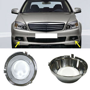 Details about For Mercedes-Benz C class W204/C63/AMG Front Bumper Fog Light  Grille Cover Trims