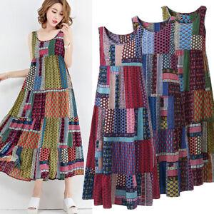 ZANZEA-8-24-Women-Party-Beach-Floral-Long-Dress-Kaftan-Plus-Size-Maxi-Sundress