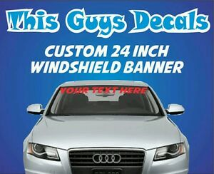 Custom Windshield Banner Decal Vinyl Sticker Jdm Stance Car Window - Car windshield decals custom