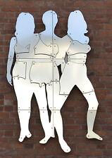 Werner Berges - Three Beauties - 2001, Pop Art Stahl Wandskulptur - Luxus