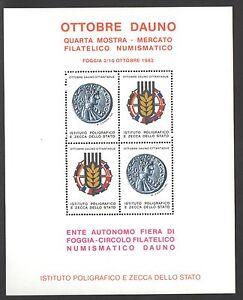 a4f3f7fe4f Caricamento dell'immagine in corso FOGLIETTO-IPZS-1982-ITALIA -OTTOBRE-DAUNO-ENTE-AUTONOMO-