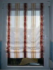 034-Exklusiver-034-Raffrollo-Baendchenrollo-Gardine-Vorhang-Scheibengardine-Nr-0010