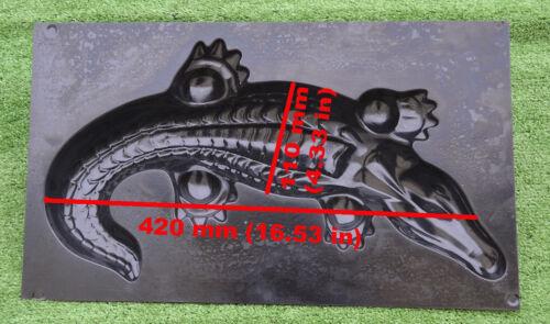 MOLD Casting CROCODILE DECORATIV Concrete Gator GARDEN MOLD Alligator #A06 Small