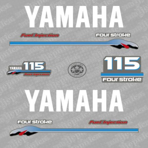 Yamaha 115 four stroke outboard decal aufkleber adesivo sticker set 2000