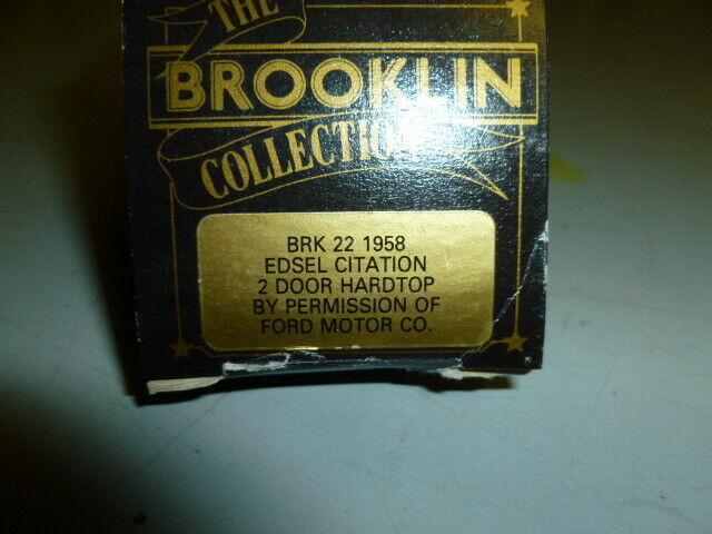 Die cast 1 43 Brooklin Models 1 43 Scale BRK22 1958 edsel citation 2 door hard..