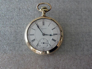 Waltham-Vanguard-Antique-Railroad-Pocket-Watch-Diamond-End-18-size-21j-Adj-5-pos