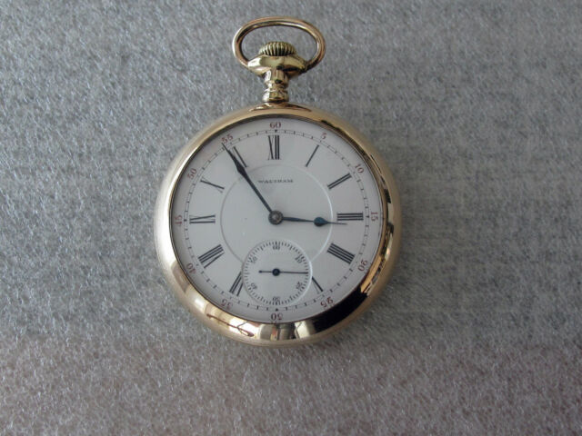 Waltham Vanguard Antique Railroad Pocket Watch Diamond End 18 size 21j Adj.5 pos