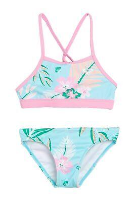 Roxy Little Girl/'s Size 5  1 Pc Sunshine Fresh Water Blue Pink Swimsuit