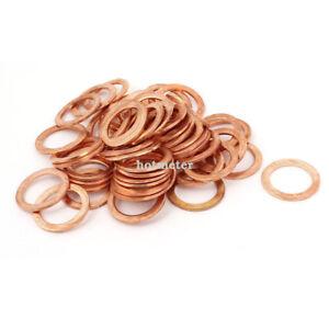 50 Pcs Metric Ring Shape Copper Flat Washer 17mm x 24mm x 1.5mm 711331378453