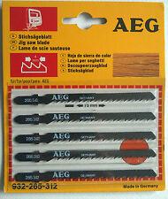 5 x AEG Stichsägeblatt Holz Kurvenschnitte 55mm – Jig saw Blade - Lame de scie