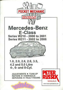 shop manual mercedes service repair book e class w210 w211 2000 2006 rh ebay com repair manual mercedes benz 380sl repair manual mercedes benz 380sl
