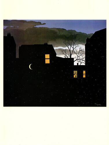"""1974 Vintage MAGRITTE /""""GOOD FORTUNE LA BONNE AVENTURE/"""" COLOR offset Lithograph"""