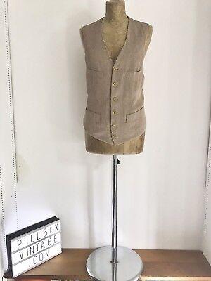 """Umile """"armani"""" 1990s Vintage Gilet A Righe Marrone Chiaro-mostra Il Titolo Originale Moderno Ed Elegante Nella Moda"""