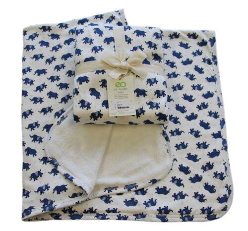 Babydecke 100/% Coton Biologique GOTS Couverture Couverture Filet Fleece 85x100cm