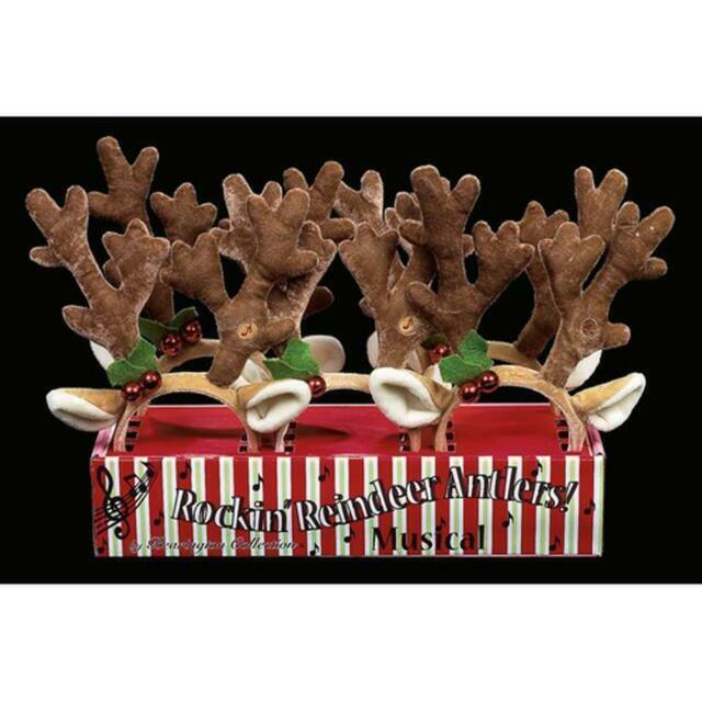 2 The Bearington Collection Rockin/' Reindeer Ears Headband Kids Toy Pack of