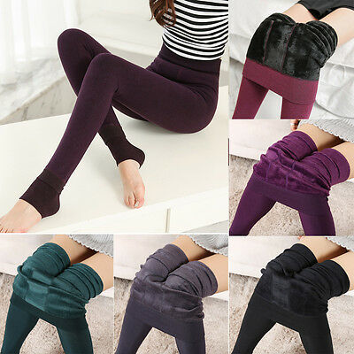 Women Ladies Winter Leggings Pants Stretchy Thick Fleece Lined Thermal Warmer