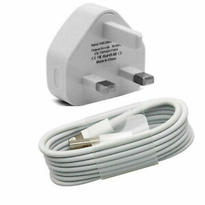 For-Various-iPhone-3-Pin-UK-Travel-Plug-Adapter-Charger-Wall-amp-USB-Sync-Cable