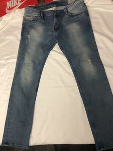 Diesel-Thavar-mens-jeans-33x30-Slim-Skinny-Stretch-Fit